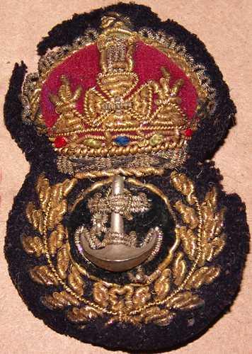 1a. British W.W.1 Petty Officer Bullion hat insignia. $70.00