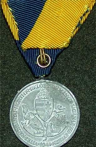 5d. Hungarian Medal. Occupation Medal for theBacka-Baranja region 1941. $100.00